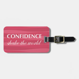 Red for Confidence Luggage Tags