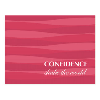 Red for Confidence Postcard