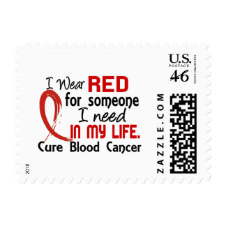 Red For Someone I Need Blood Cancer Postage Stamp