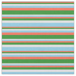 [ Thumbnail: Red, Forest Green, Lavender, and Sky Blue Colored Fabric ]