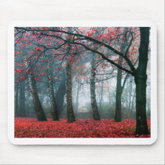Red Forest Mouse Pads