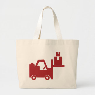 Red Forklift Icon Jumbo Tote Bag