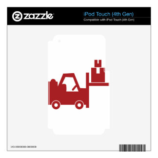 Red Forklift Icon iPod Touch 4G Decals
