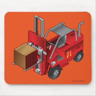 Red Forklift, Pallet Truck for Kids Mouse Pad