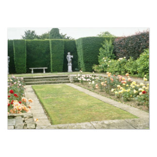 Red Formal Rose Garden With Cultivated Hedge flowe Announcements