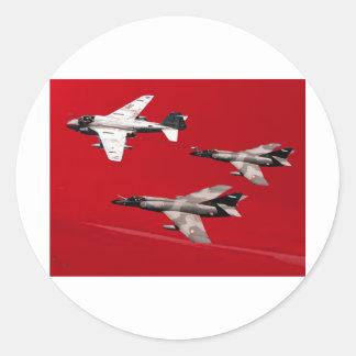Red Formation Flight Classic Round Sticker