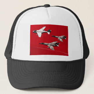 Red Formation Flight Trucker Hat
