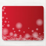 Red Forndo with flowers and bubbles Mouse Pads