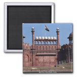 Red Fort, New Delhi, India 2 Inch Square Magnet