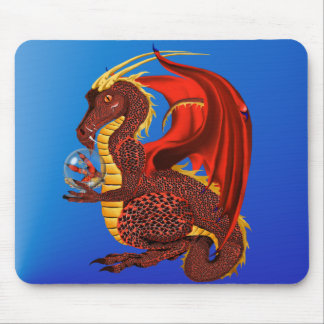 Red Fortune Dragon Mousepad