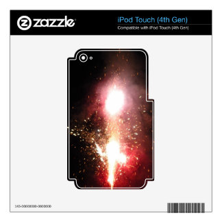 Red Fountain Flash iPod Touch 4G Skin