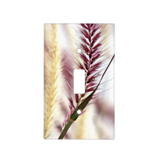 Red Fountain Grass Light Switch Cover