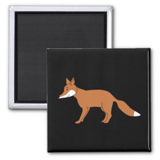 Red Fox. 2 Inch Square Magnet