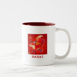Red Fox 2-Tone Mug(right handle)