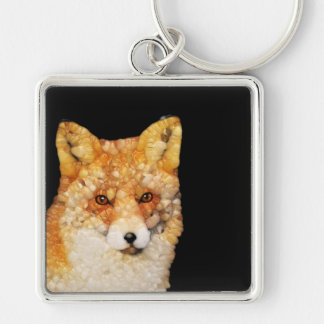 Red Fox Abstract Keychain