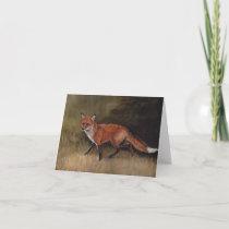 Red Fox Art Note Card