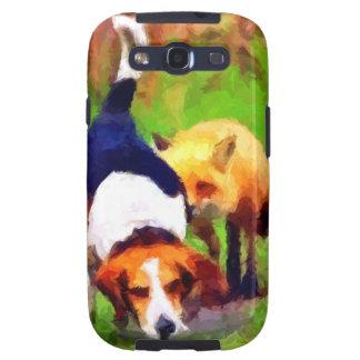 red fox basset hound landscape galaxy SIII case