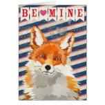 Red Fox Be Mine Card