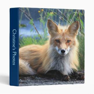 Red fox beautiful photo album, binder custom name