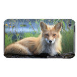 Red fox beautiful photo portrait, gift barely there iPod covers