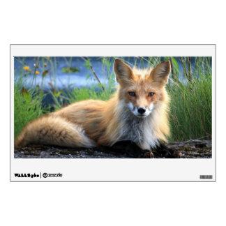 Red fox beautiful photo portrait, gift wall sticker