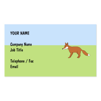 Red Fox. Double-Sided Standard Business Cards (Pack Of 100)