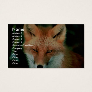 Red Fox Business Card