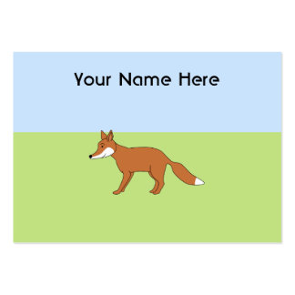 Red Fox. Large Business Cards (Pack Of 100)