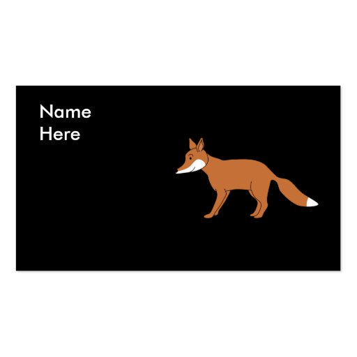 Red Fox. Business Card Templates