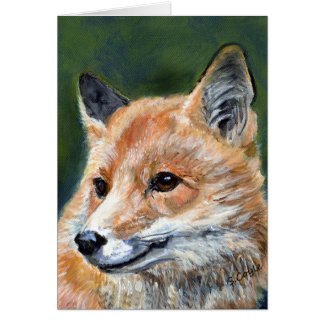 Red Fox by Sharon Coyle Greeting Cards
