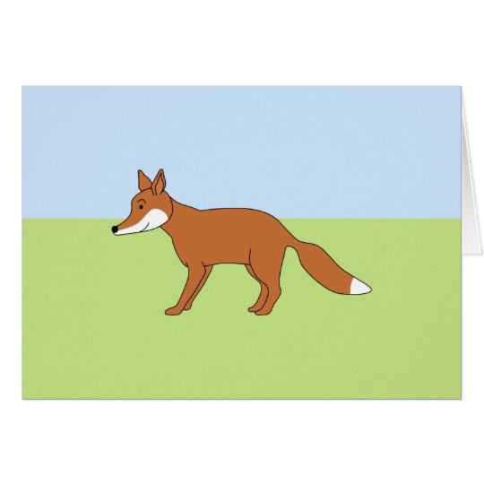 Red Fox. Card