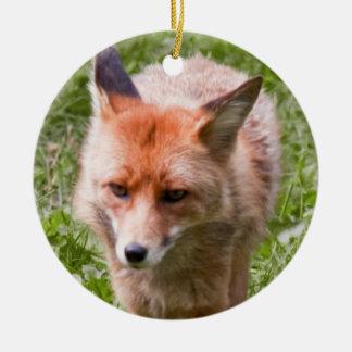 Red fox ceramic ornament