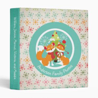 Red Fox Christmas Holiday Custom Binder
