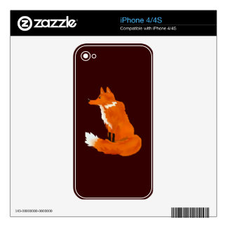 Red Fox Decals For The iPhone 4
