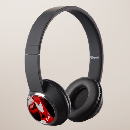 Red Fox Design Personalized DJ Style Headphones