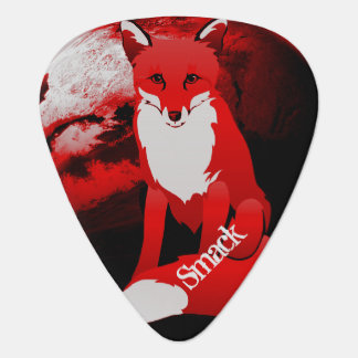 Red Fox Design Personalized Guitar Pick
