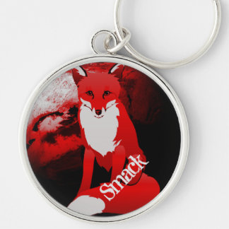 Red Fox Design Personalized Keychain