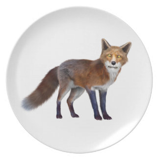 Red Fox Dinner Plate