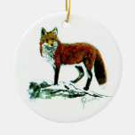 Red Fox double sided ornament