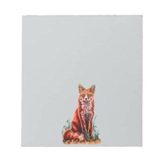 Red Fox Drawing Animal Art Pencil Sketch Foxy Notepad
