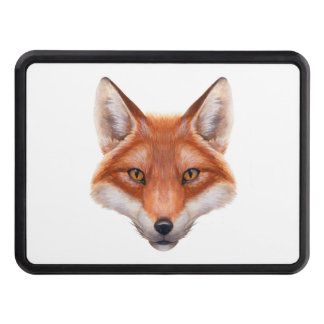 Red Fox Face Hitch Cover