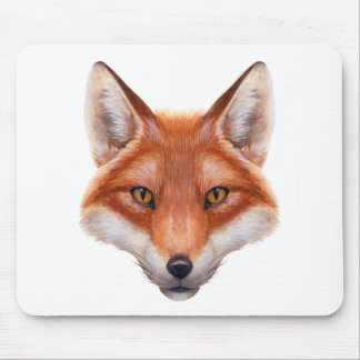 Red Fox Face Mouse Pad