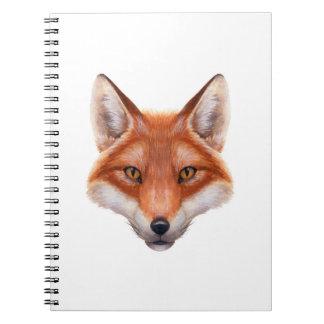 Red Fox Face Notebook