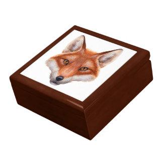 Red Fox Face Trinket Box