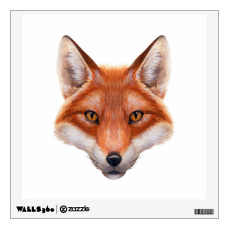 Red Fox Face Wall Decal