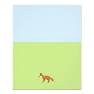 Red Fox. Flyer