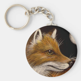 RED FOX - FULL MOON keychain