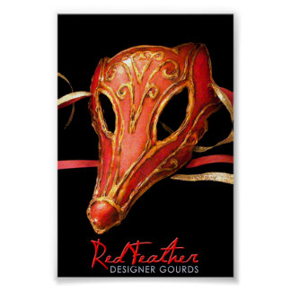 Red Fox Gourd Mask Poster