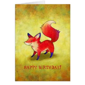 Red Fox Greeting Card(customizable) Card
