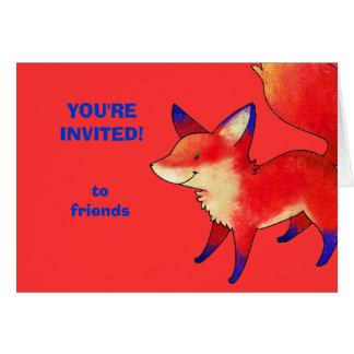 Red Fox Greeting Card(customizable) Card